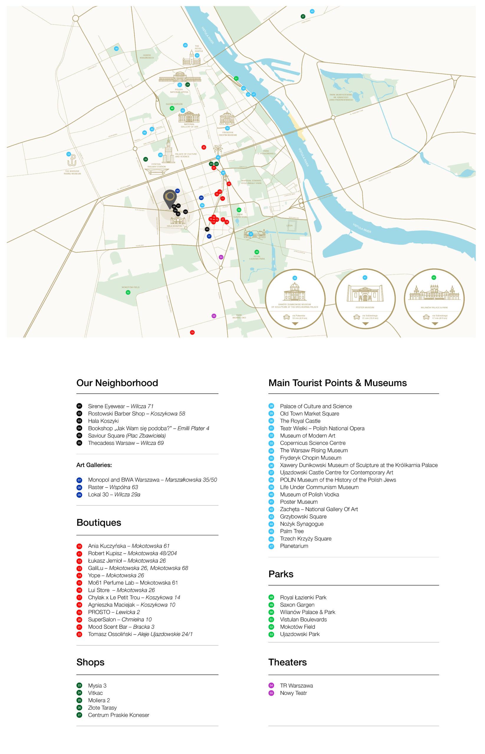 Attractions near Nobu Hotel Warsaw